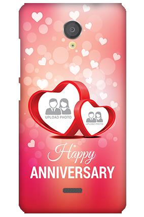Silicon - Micromax Unite 2 A106 Floral Hearts Anniversary Mobile Cover