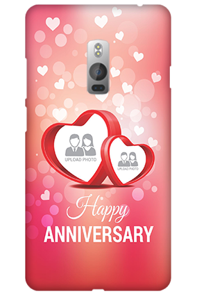 One Plus Two Floral Hearts Anniversary Mobile Cover