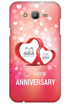 Samsung Galaxy J7 Floral Hearts Anniversary Mobile Cover