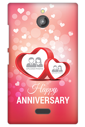 Nokia X2 Floral Hearts Anniversary Mobile Cover