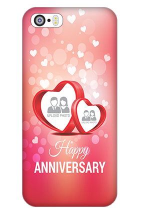 iPhone 5 Floral Hearts Anniversary Mobile Cover