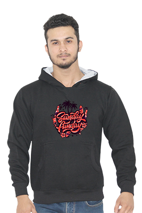 Sunday Funday Full Sleeves Black Hoodie