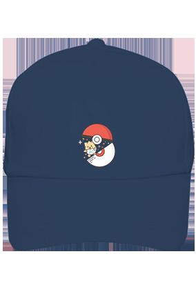 Printed Pokemon Cotton Blue Cap
