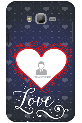 3D-Samsung Galaxy J7 Designer Heart Personalized Mobile Cover