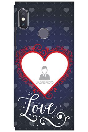 3D-Xiaomi Redmi Note 5 Pro Designer Heart Personalized Mobile Cover