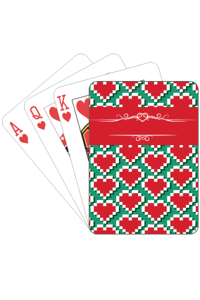Streaming Hearts Valentine Day Playing Cards