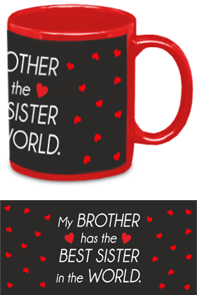Customized My Brother has the Best Sister Red Patch Mug