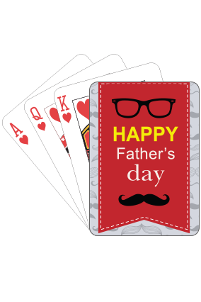 Cool  Fathers Day Playing Cards