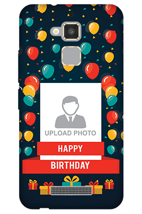 Customised Asus Zenfone 3 Max Balloons Birthday Mobile Cover