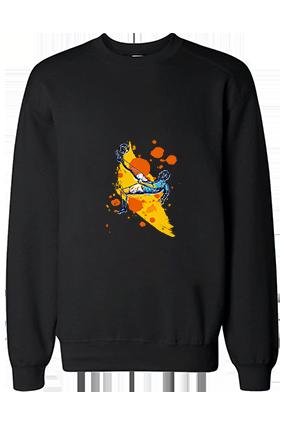 Show Your Football Love Cotton Black Sweatshirt
