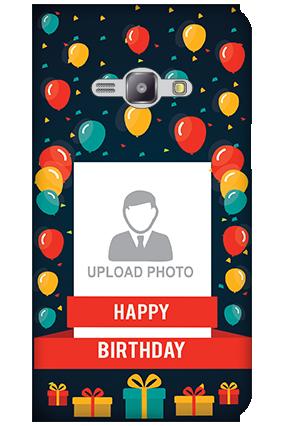 Silicon - Samsung Galaxy J1 Ace Balloons Birthday Mobile Cover