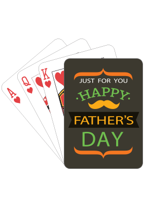 Just For You  Fathers Day Playing Cards