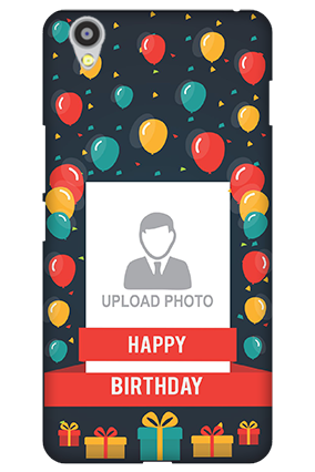 Customized Oneplus X Balloons Birthday Mobile Cover