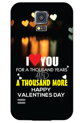 Printed Samsung Galaxy S5 Forever Love Valentine Day Mobile Cover