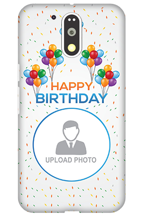 Amazing 3D-Motorola Moto G4 Plus Happy Birthday Mobile Cover