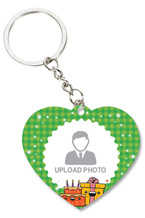Birthday Heart Key Chain