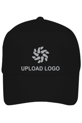 Upload Logo Black Cap