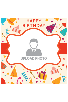 Customised Birthday Greetings Square Canvas Print