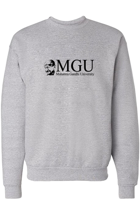Awesome MGU Black Print Gray Sweatshirt