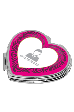 Lovely Pink Heart Mirror