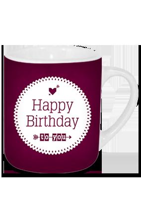 Purple Birthday Tea Mug