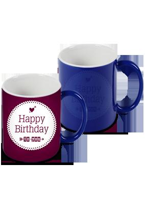 Customize Cute Blue Magic Mug
