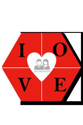 Love Hexa Coaster Printing