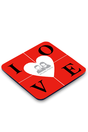 Love Square Printed Coaster