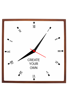 Create Your Own Square Wooden Wall Clock