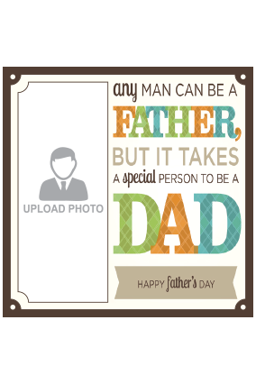 Best Father's Day Square Canvas Print