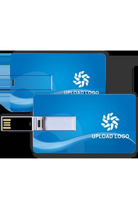 Blue Credit Card Pen Drive (8, 16, 32 GB)