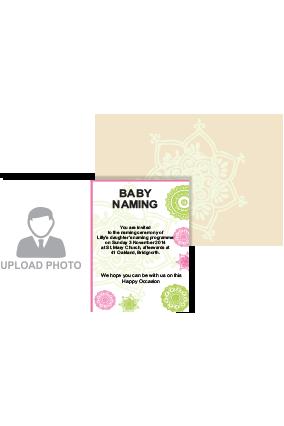 Picture Perfect Naamkaran Invitation Card