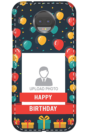 Personalised 3D-Motorola Moto G5s Plus Balloons Birthday Mobile Cover