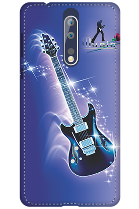 3D - Nokia 8 Music Flare Mobile Cover