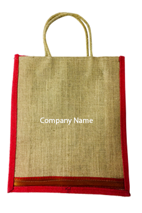 Company Name Jute Bottle Bag 03