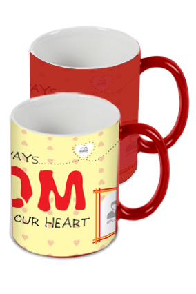 In Our Heart Red Magic Mug