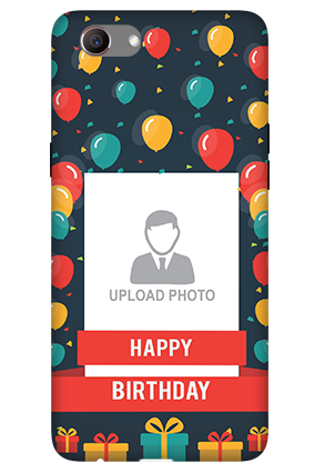 Personalised 3D-Oppo Realme 1 Balloons Birthday Mobile Cover