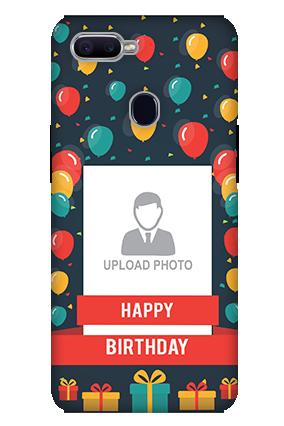 3D-Oppo F9 Balloons Birthday Mobile Cover