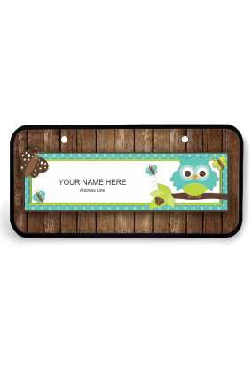 Funky Brown Wooden Name Plate for House
