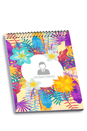 Colorful Flowers Top Spiral Notepad