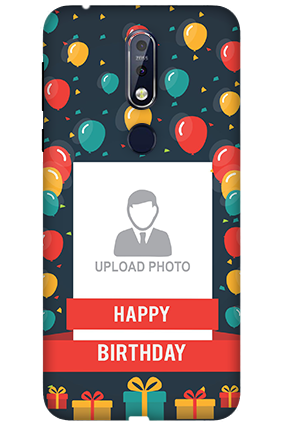 3D Nokia 7.1 Balloons Birthday Mobile Covers