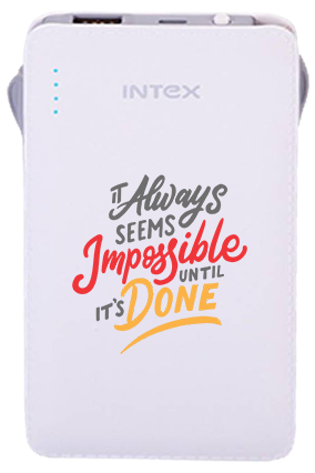 Create Your Own Intex-Power Bank PB-2500mAh Poly - Yellow
