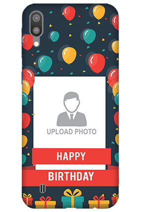 3D-Samsung Galaxy M10 Balloons Birthday Mobile Covers