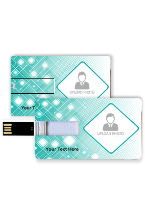 Green Chip Personalized Credit Card Pen Drive