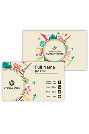Around the World Trendy Travel and Tourism Visiting Card