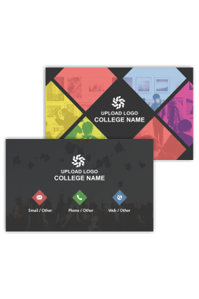Beautiful Black Customized Education Visiting Card