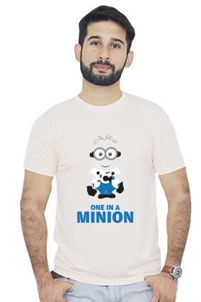 One in a Minion  Dri Fit Light Peach T-Shirt