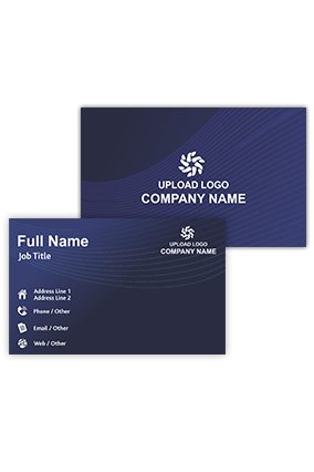 Navy Blue Personalized Information and Technology Visiting Card