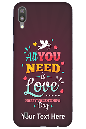 3D-Samsung Galaxy M10 All you Need Love Customized Mobile Back Cover