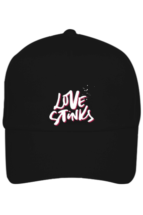 Love Stinks Customised Cotton Black Cap